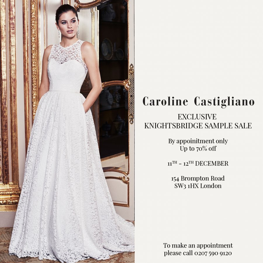 Exclusive* Caroline Castigliano Wedding Dress Sample Sale