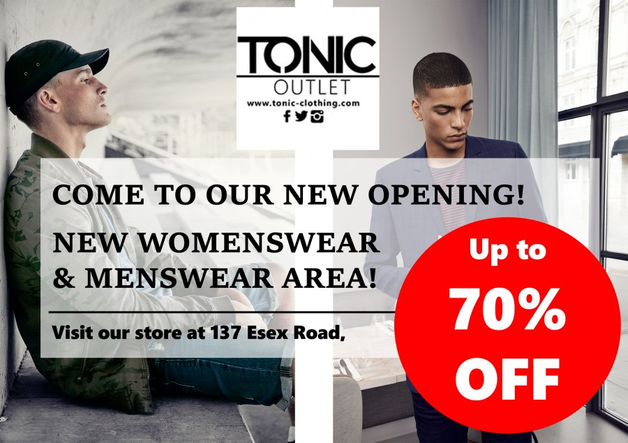 06f25744 Ascott Blend She Sinequanone ... Tonic Islington is an Outlet shop located  in Essex road with a wide range of menswear and womenswear brands .