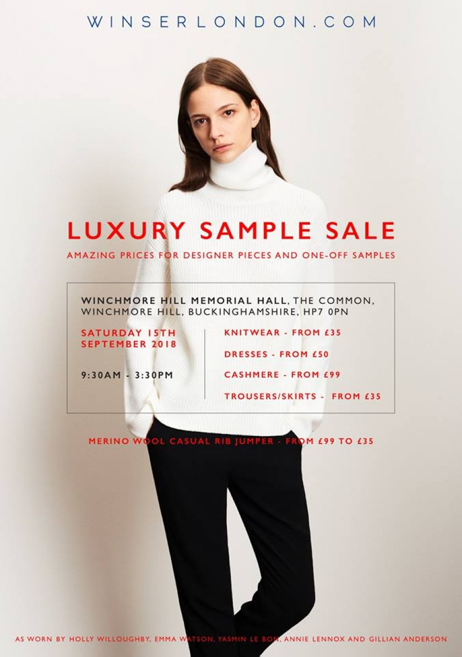 90461af6d4 Shop for women's apparel at reduced prices at the Winser London Sample Sale  Address:Winchmore Hill Memorial Hall HP7 0NG Amersham - Buckinghamshire