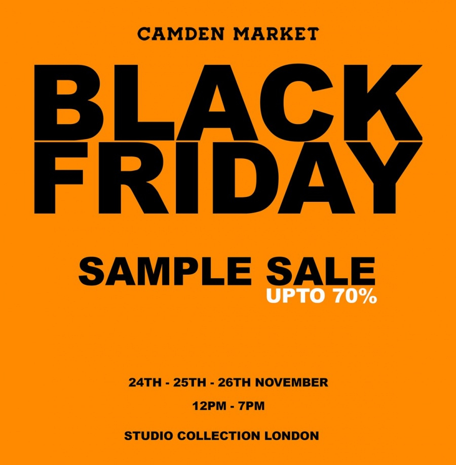 2b536e07e1 Score up to 70% off on accessories and clothing at Camden Market Black  Friday Sample Sale Address:714-718 Camden Stables Market --Chalk Farm Road  NW1 8AH ...