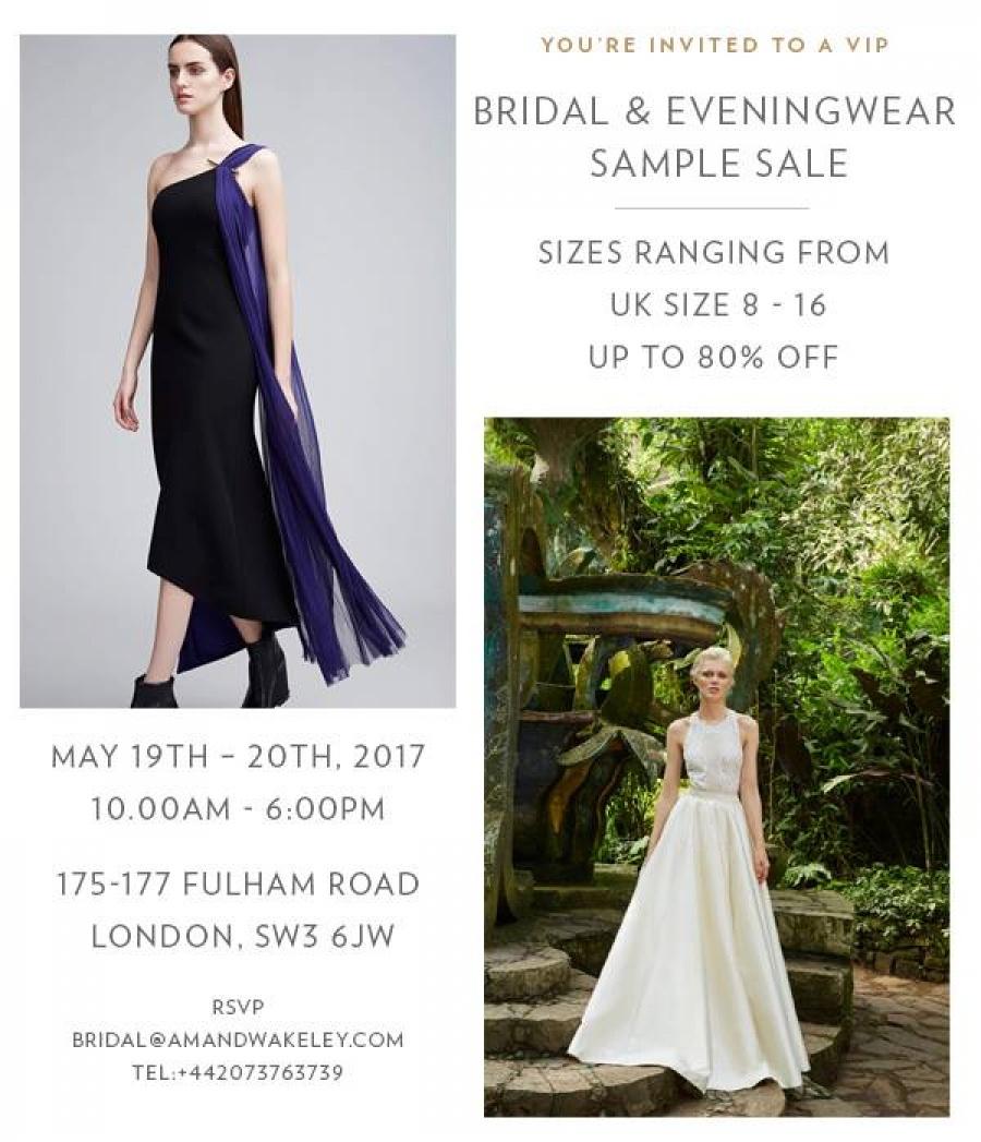 Bridal and Eveningwear Sample Sale Amanda Wakeley