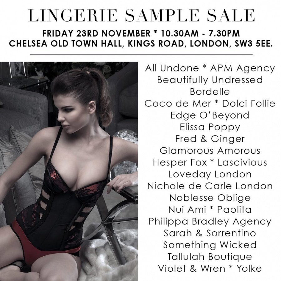 7269aed9399 Nichole De Carle London will be hosting a Sample Sale featuring women s  lingerie at reduced prices .