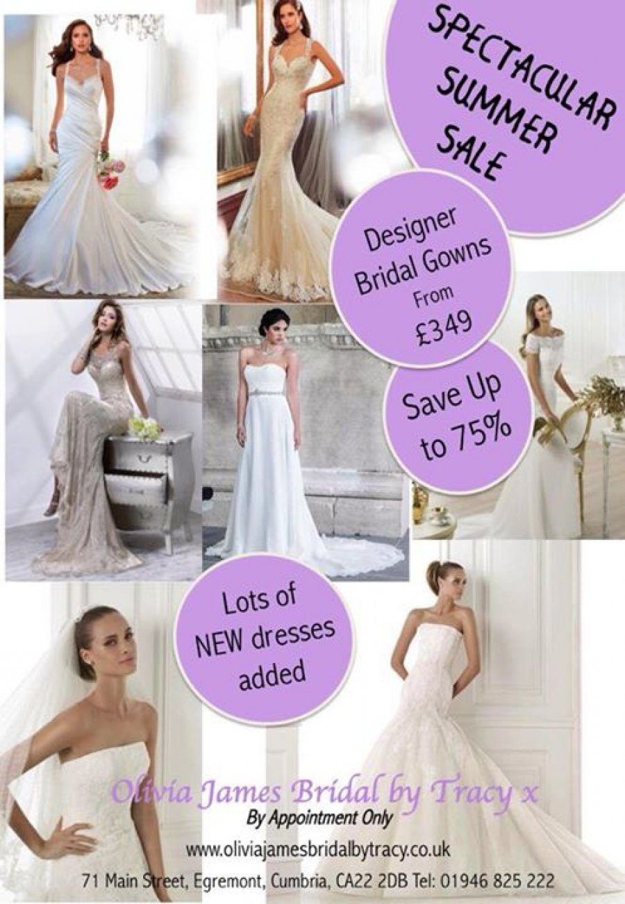Olivia James Bridal by Tracy x sample sale -- Sample sale