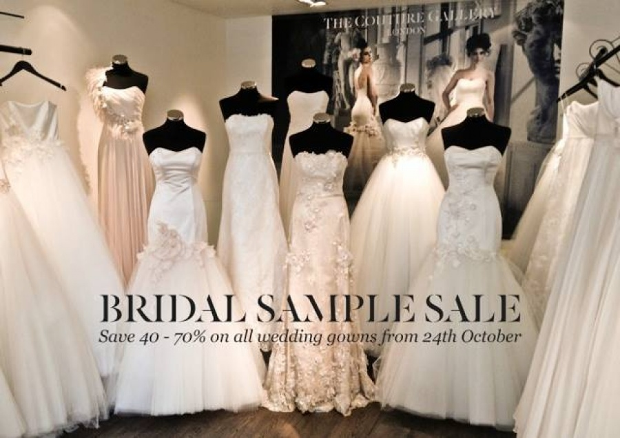 BRIDAL SAMPLE SALE - The Couture Gallery Boutique London