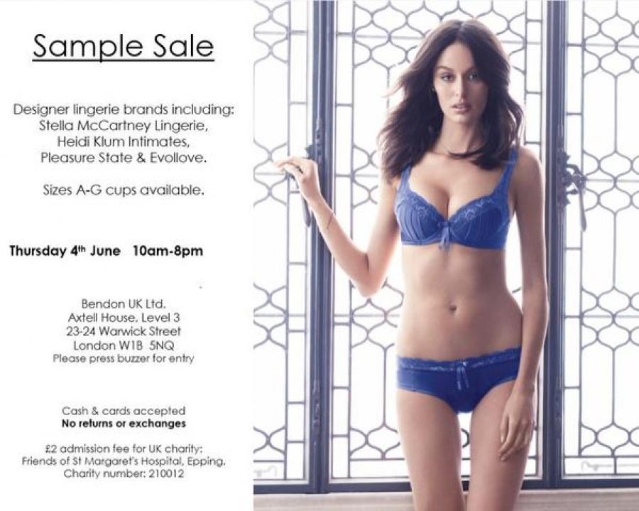 d7ef2ea0e4 Sample Sale designer lingerie -- Sample sale in London