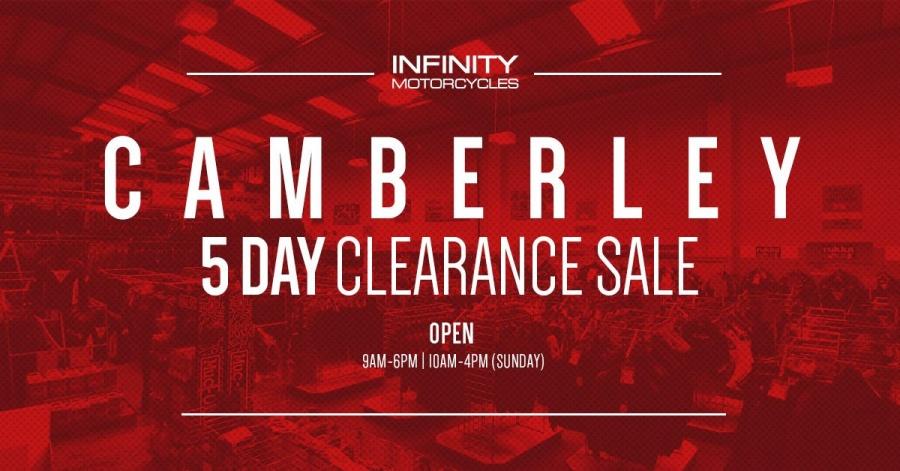 909facf7edb Infinity Motorcycles Clearance Warehouse Sale -- Sample sale