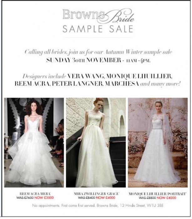 757a40c5e93b Browns Bride sample sale -- Sample sale in London