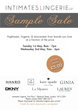 434b64aff6 Intimates Lingerie LLP Sample Sale